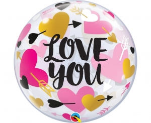 Balon foliowy 22 cale Bubble Love You