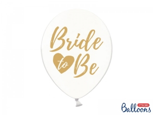 Balony 30 cm, Bride to be, transparentne, 6szt.